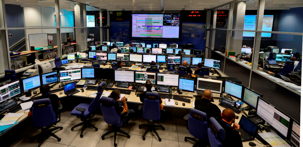 The ATV control centre in Toulouse, France, commands the craft throughout their missions.