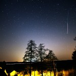 "Sternfreund Dirk ""my picture shows the ATV5 and ISS on the sky above Stolpen (East-Saxony)"" via comments"