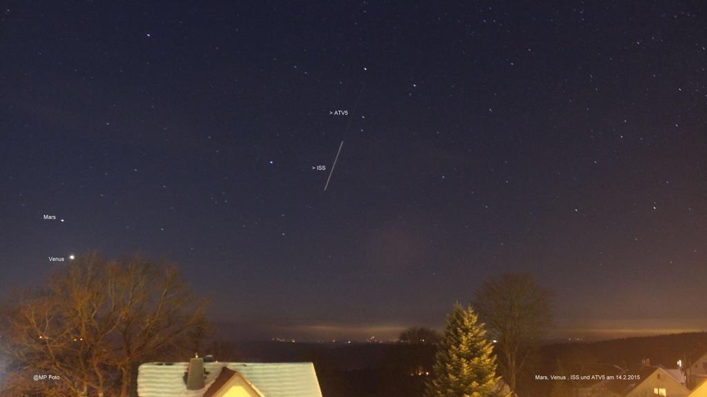 """Marco Peuschel @eclipsemarco """"Schöner Überflug heute der #ISS wieder. Hier noch tief am Nordwesthimmel . """" Germany"""