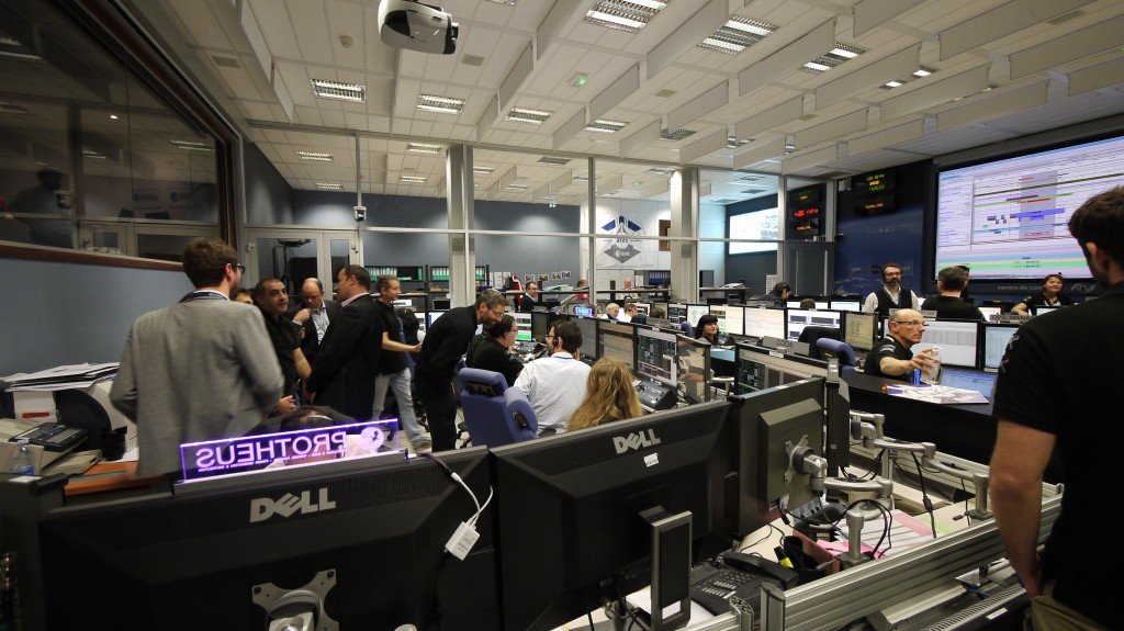 ATV Control Centre just before deorbit boost.