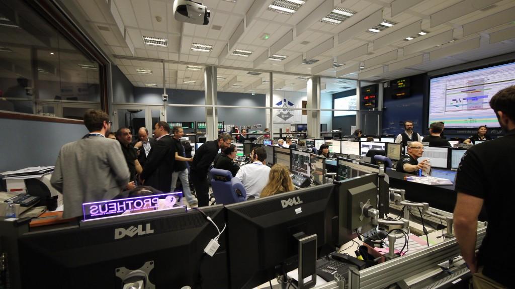 ATV Control Centre just before deorbit boost.