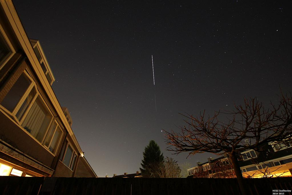 "Remco Timmermans @timmermansr ""My last ever sight of #ATV5, as it disappears into the Earth's shadow in the East towards Jupiter"" Nijmegen, The Netherlands"