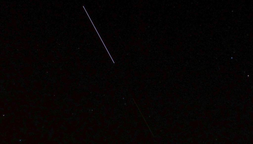 "ZauberDerSterne.de @ZauberDerSterne ""My best 15-second image of #ISS and #ATV5 over Bonn, Germany."""