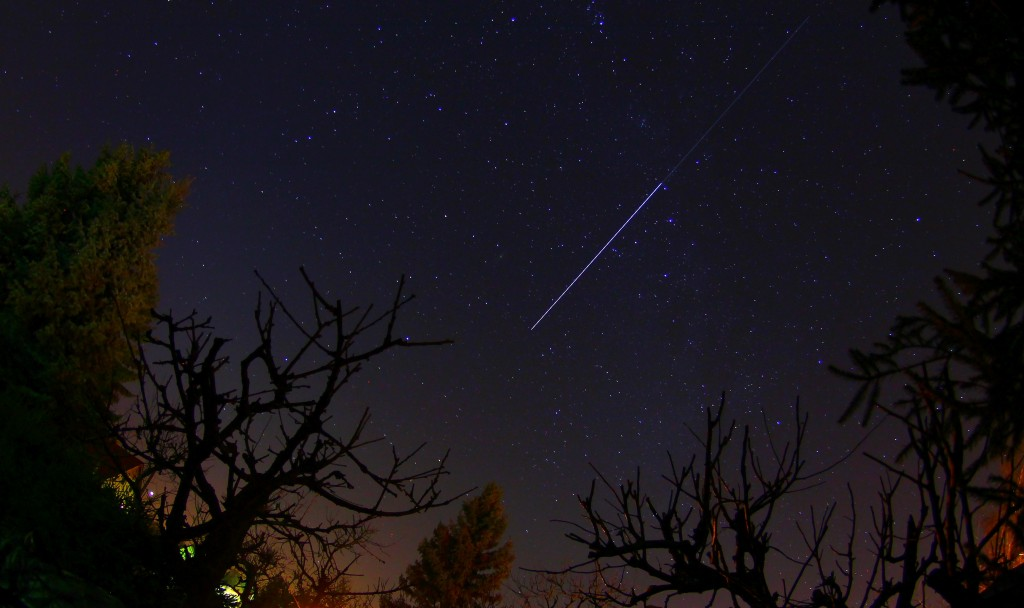 ATV-5 and International Space Station over Saxony, Germany. Credits: Alex Springer