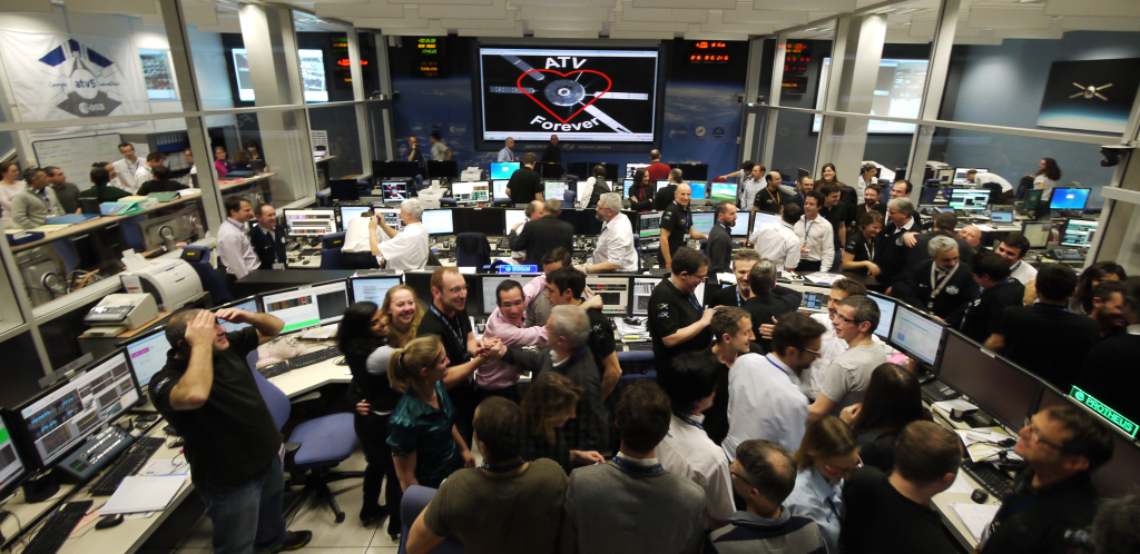 Final view of ATV-CC Credit: ESA