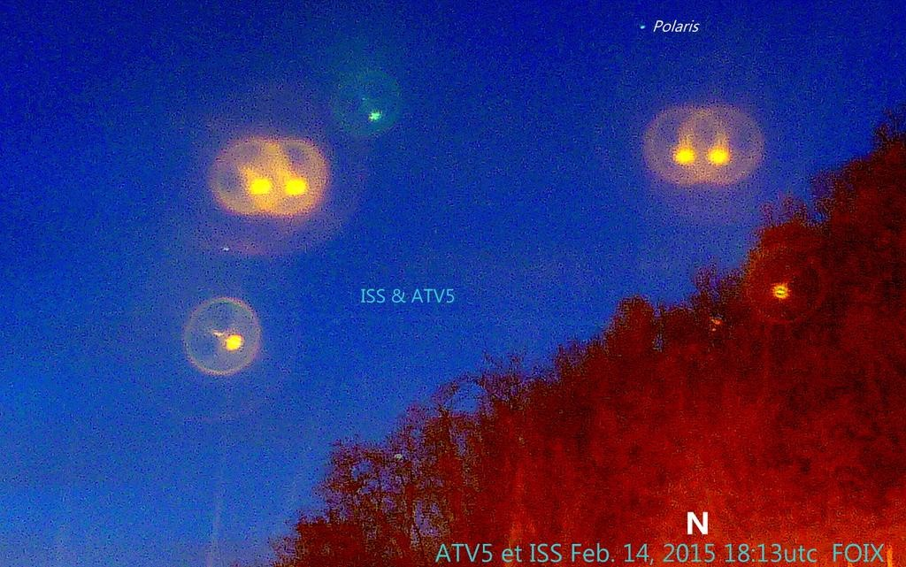 "jb ‏@OrbitalMove ""#ATV5 et #ISS 1813utc Feb 14th, from Foix, Pyrenées, South France. Pic went bad, from work. Bye #ATV5 thank you"""