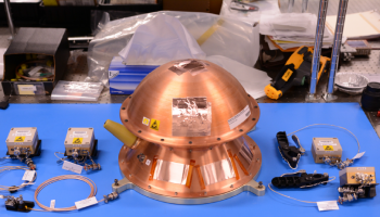 Reentry Breakup Recorder with Wireless Sensors (REBR-W), as configured for intended usage on ATV-5. Image copyright: The Aerospace Corporation