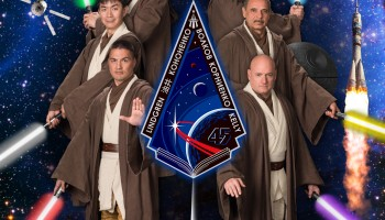 """Expedition 45 """"Return of the Jedi"""" poster. Credits: NASA"""