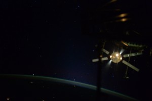 ATV-5 departs the Station. Credits: NASA