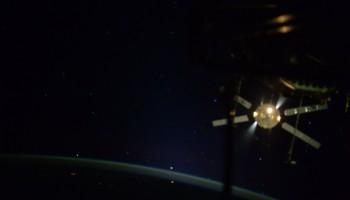ATV-5 departs the Station. Credits: NASA
