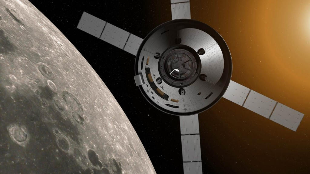 Artist's impression of Orion near the Moon. Credits: NASA