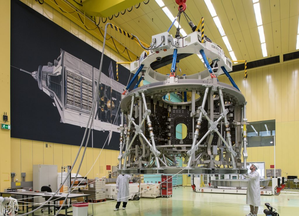Orion service module structure. Credits: Airbus