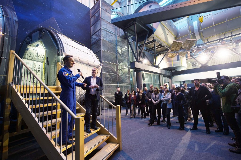 ESA astronaut Matthias Maurer at the signature event. Credits: ESA–Philippe Sebirot, 2017