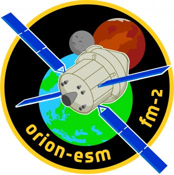 Orion European Service Module flight model 2 logo