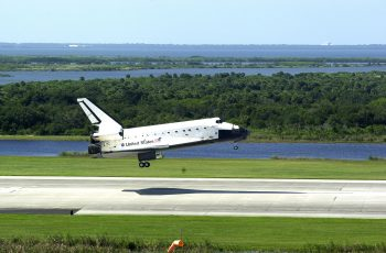 Last landing of the European Service Module main engine was the Space Shuttle STS-112 flight. Credits: NASA