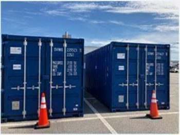 Containers with Orion Service Module parts at Kennedy Space Center. Credits: ESA