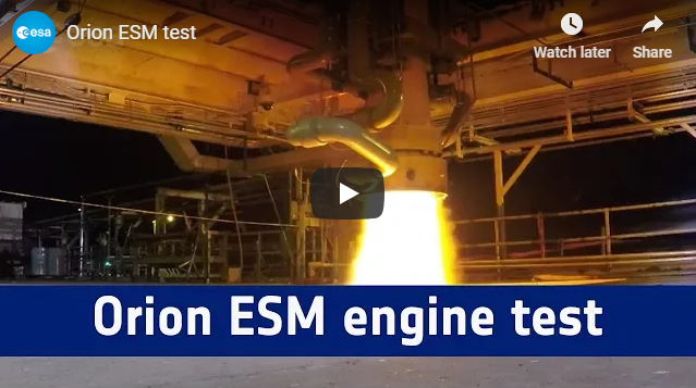 A new round of propulsion tests for Orion