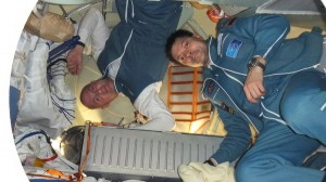Soyuz did a great job bringing us to the Space Station. Little room though....