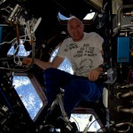André Kuipers on board ISS
