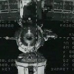 View of the ISS from Soyuz TMA-22 following undocking (credit: NASA TV)