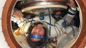 André in Sokol suit (credit: ESA/NASA)