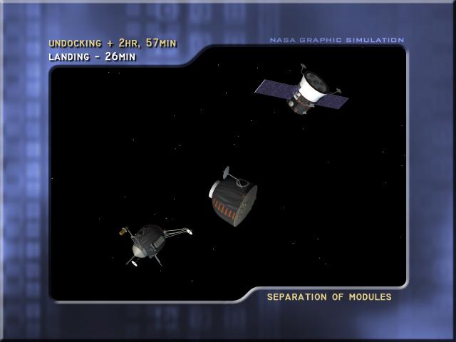 Separation of modules (Credit: NASA)