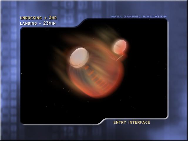 Reentry in Earth's atmosphere (Credit: NASA)