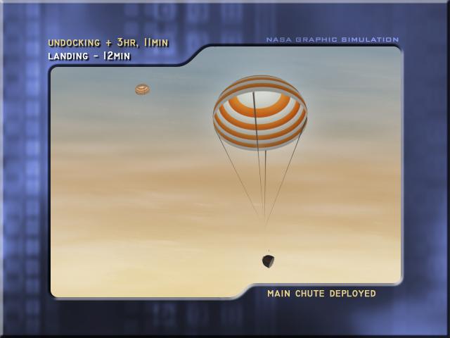 Main parachute deployed (Credit: NASA)