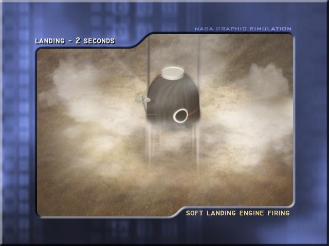 Soft Landing Engine Firing (Credit: ESA)