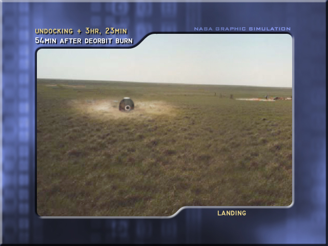 Landing, deploy antenna (Credit: NASA)