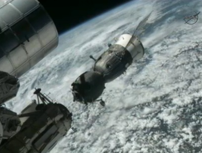 Shortly after undocking from the ISS