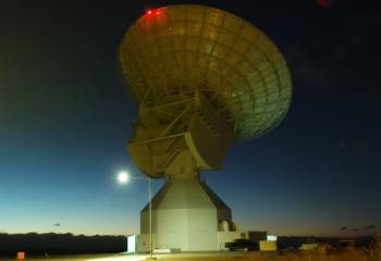 Beautiful sunset view of ESA's 35m deep space tracking station in Malargüe, Argentina. Credit: ESA/S. Marti