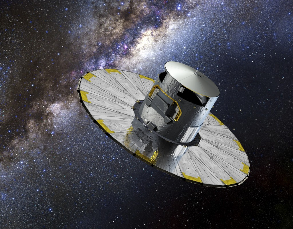 Gaia is an ambitious mission to chart a three-dimensional map of our Galaxy, the Milky Way, in the process revealing the composition, formation and evolution of the Galaxy. Credit: ESA–D. Ducros, 2013