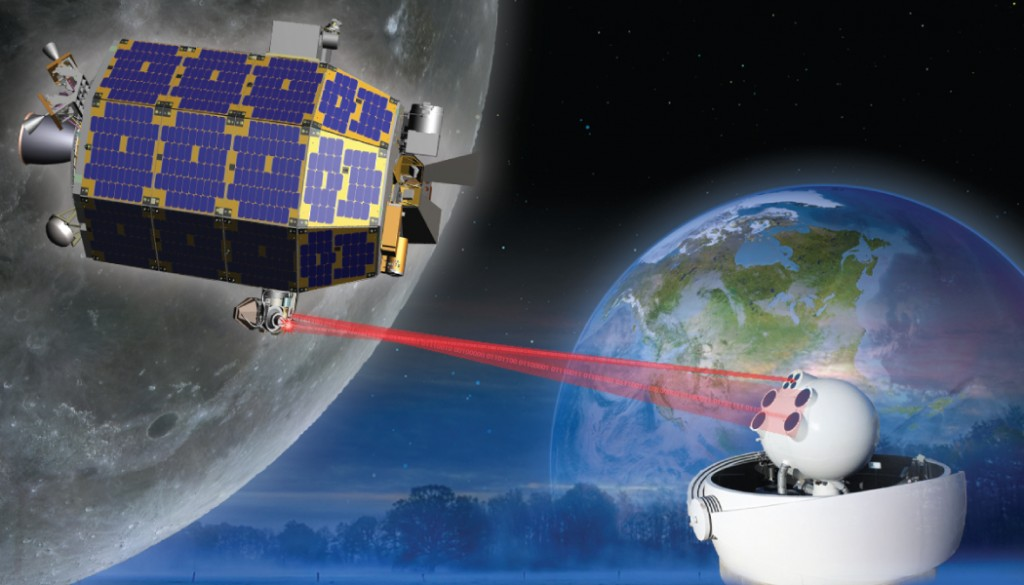 Artist's rendering of the LADEE satellite in orbit. Image Credit: NASA