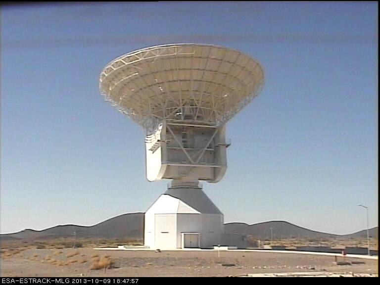 Pointing straight up! Malargue station at 18:48 UTC