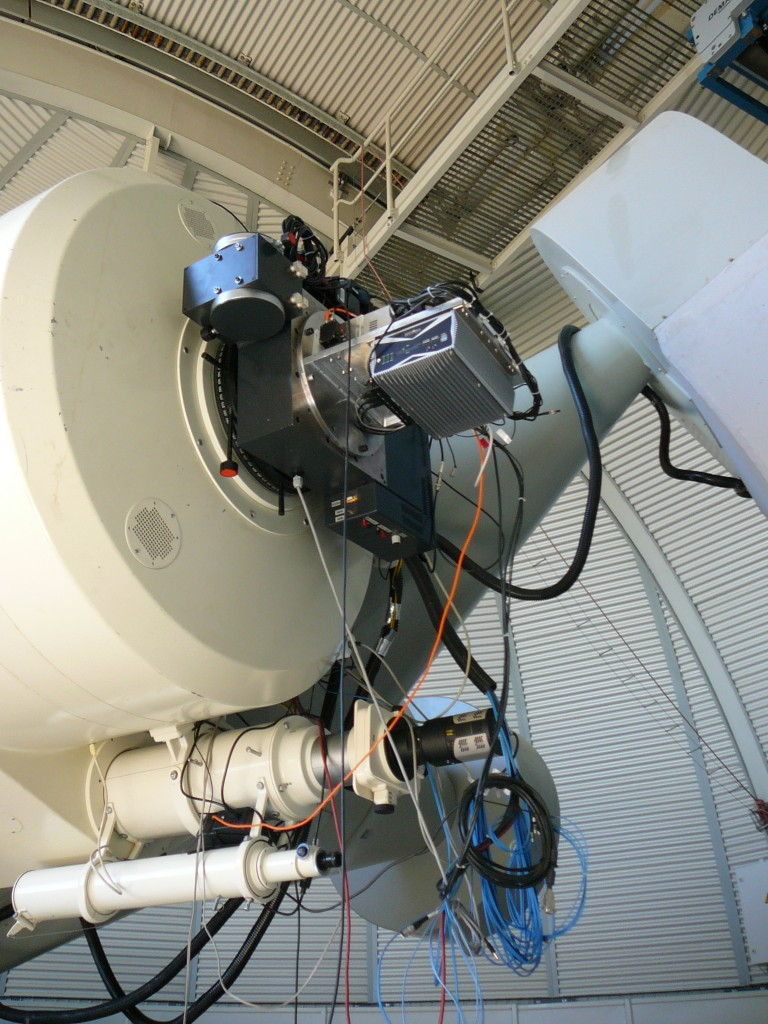1-m telescope with laser equipment attached. credit: ESA