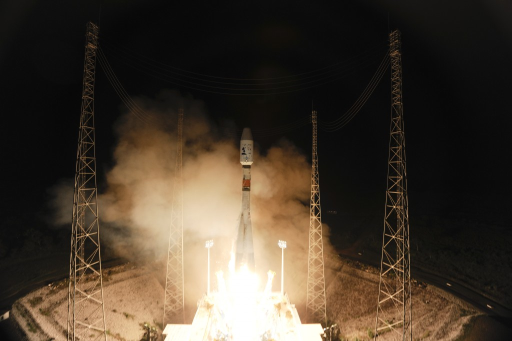 Soyuz VS06, with Gaia space observatory, lifted off from Europe's Spaceport, French Guiana, on 19 December 2013. Credit: ESA/S. Corvaja, 2013