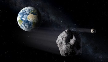 Asteroids passing Earth Credit: ESA/P. Caril