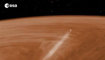 Venus Express aerobraking Credit: ESA