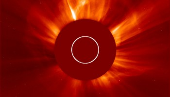 SOHO LASCO C2 coronagraph CME 10 Sep 2014 Credit: ESA/NASA