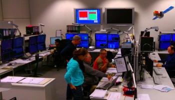 Integral teams at work 24 January 2015 Credit: ESA