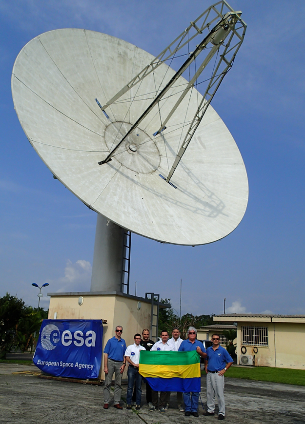 Engineering team at Libreville for IXV