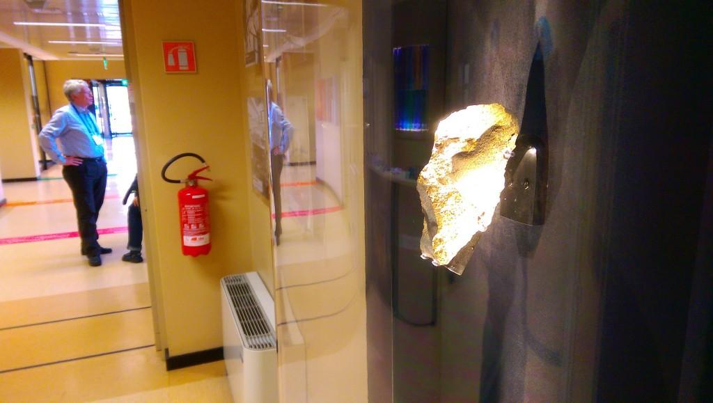 Meteor(ite) on the wall at #PDC2015 Credit: ESA CC BY-SA IGO 3.0
