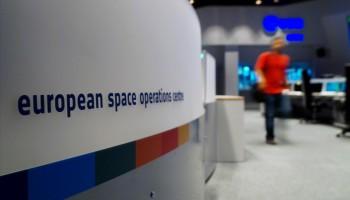 Main Control Room at ESA's European Space Operations Centre, Darmstadt, Germany. Credit: ESA/P. Shlyaev
