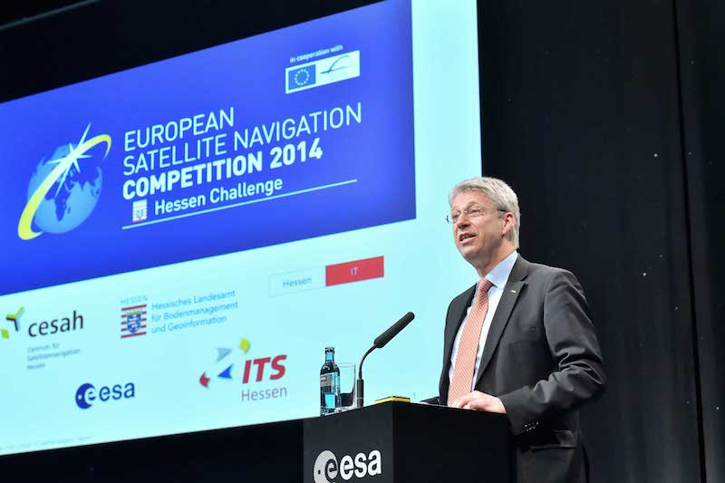 ESA's Thomas Reiter at ENSC 2014 Credit: cesah/J. Mai