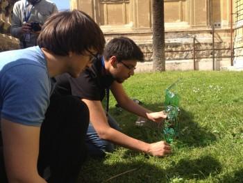"The first ""field test"" on the Sapenzia Università di Roma grounds Credit: CROPP"