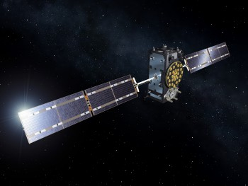 Artist's view of a Galileo Full Operational Capability (FOC) satellite. Credit: ESA/Pierre Carril, 2015