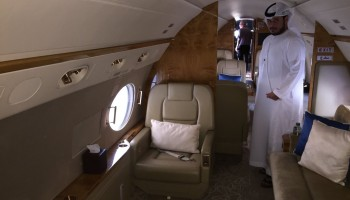The Gulfstream 450 business jet to be deployed for the observation. Image courtesy M. Shawkat Odeh
