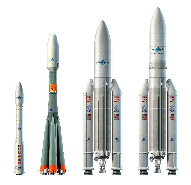 Launchers at Europe's Spaceport Credit: ESA