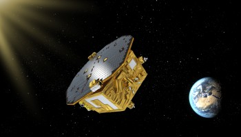 LISA Pathfinder spacecraft after propulsion module has been discarded Credit: ESA